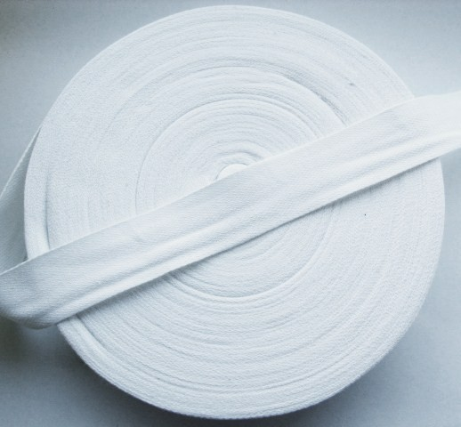 White 25 mm Cotton Bunting Tape 50 Metre Roll