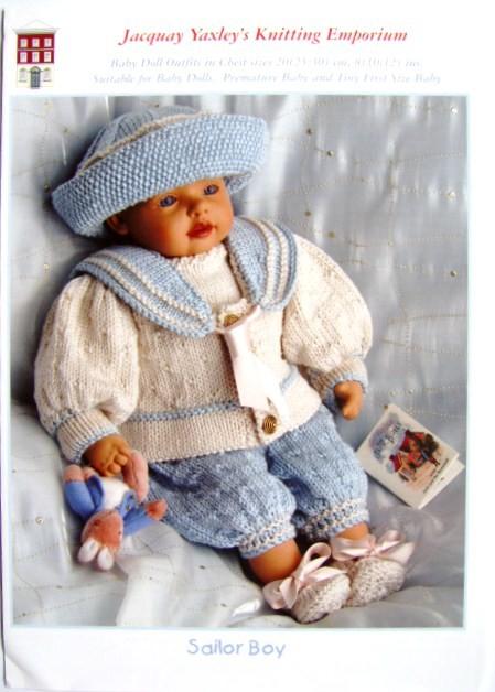 Knitting Pattern Jacquay Yaxley Sailor Boy